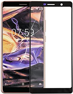 LENASH Front Screen Yttre glaslins för Nokia 7 Plus / E9 Plus Skärmglasbyte (Color : Black)
