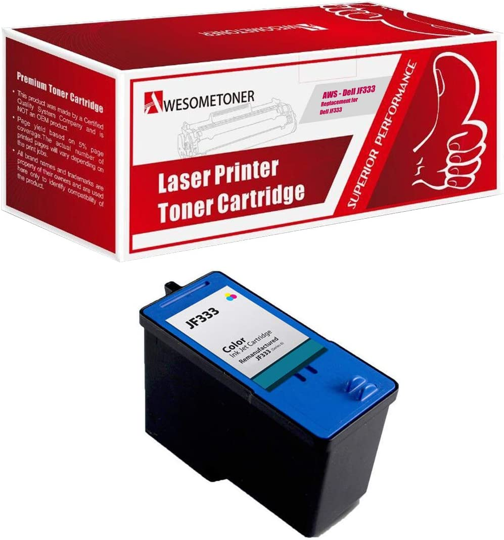 Awesometoner Compatible Ink Cartridge Replacement for Dell JF333 PG324 Series 6 use with Inkjet 725, 810 (Color, 1-Pack)