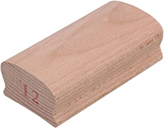 Yibuy 12# Wood Radius Sanding Blocks for Guitar Bass Fret Leveling Fingerboard Luthier Tool