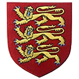 Escudo de armas real de Inglaterra Escudo León Británico Parche Bordado de Aplicación con Plancha