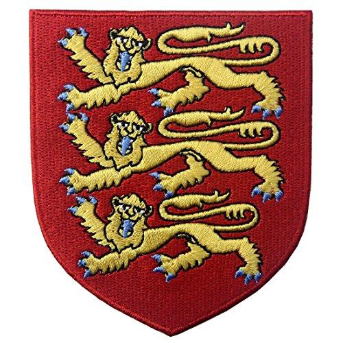 England Königliches Wappen Britischer Löwe Schild Flicken Bestickter Aufnäher zum Aufbügeln/Annähen