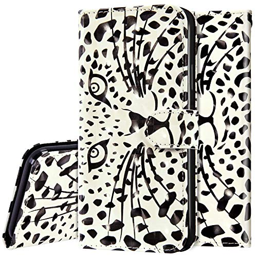 Surakey Hülle für Huawei P40 Handyhülle Schutzhülle Klapphülle Bunt 3D Glänzend Bling Glitzer Muster PU Lederhülle Brieftasche Flip Case Wallet Tasche Handytasche Kartenfächer,Tiger