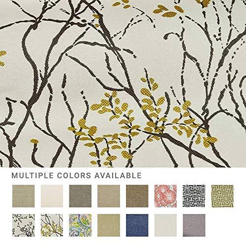eLuxurySupply Fabric by The Yard - 100% Polyester Upholstery Sewing Fabrics with LiveSmart Technology - Myla Marigold Pattern