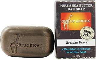 Out Of Africa - Pure Shea Butter Bar Soap African Black - 4 oz.(Pack of 6)