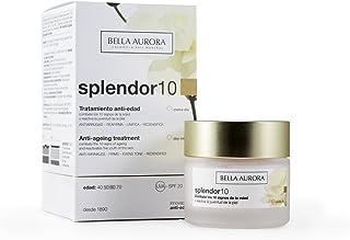 BELLA AURORA Splendor 10 Crema Facial Hidratante Anti-Edad Mujer Día Tratamiento Anti-Arrugas para la Cara sin Parabenos ...