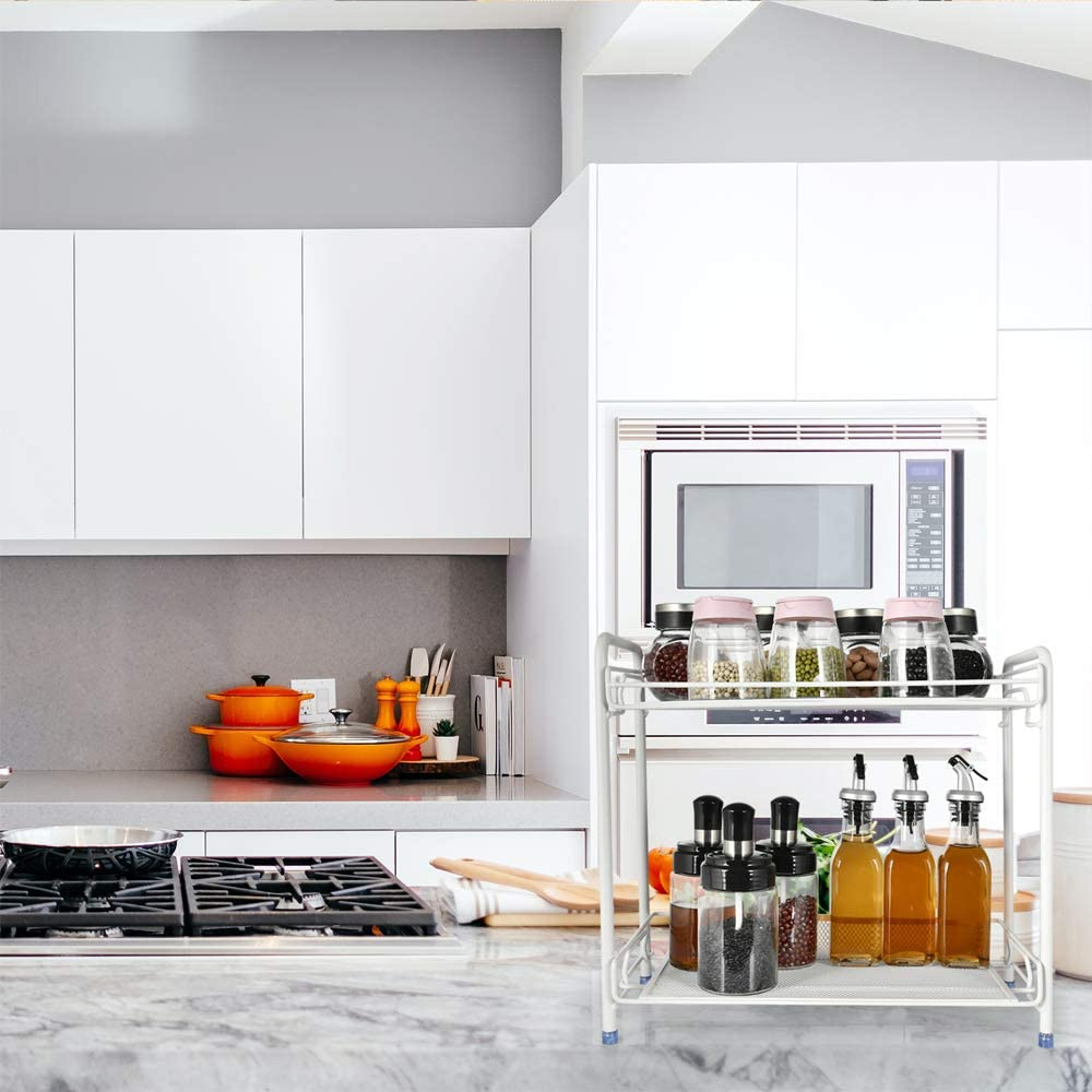 2-layer Spice Rack Organizer Arglife Spice Rack Organizer for Countertop Countertop Organizer for Countertop Kitchen and Bathroom