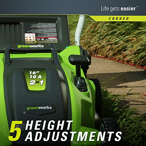 Greenworks 10 Amp 16 inch Corded Electric Lawn Mower 25142