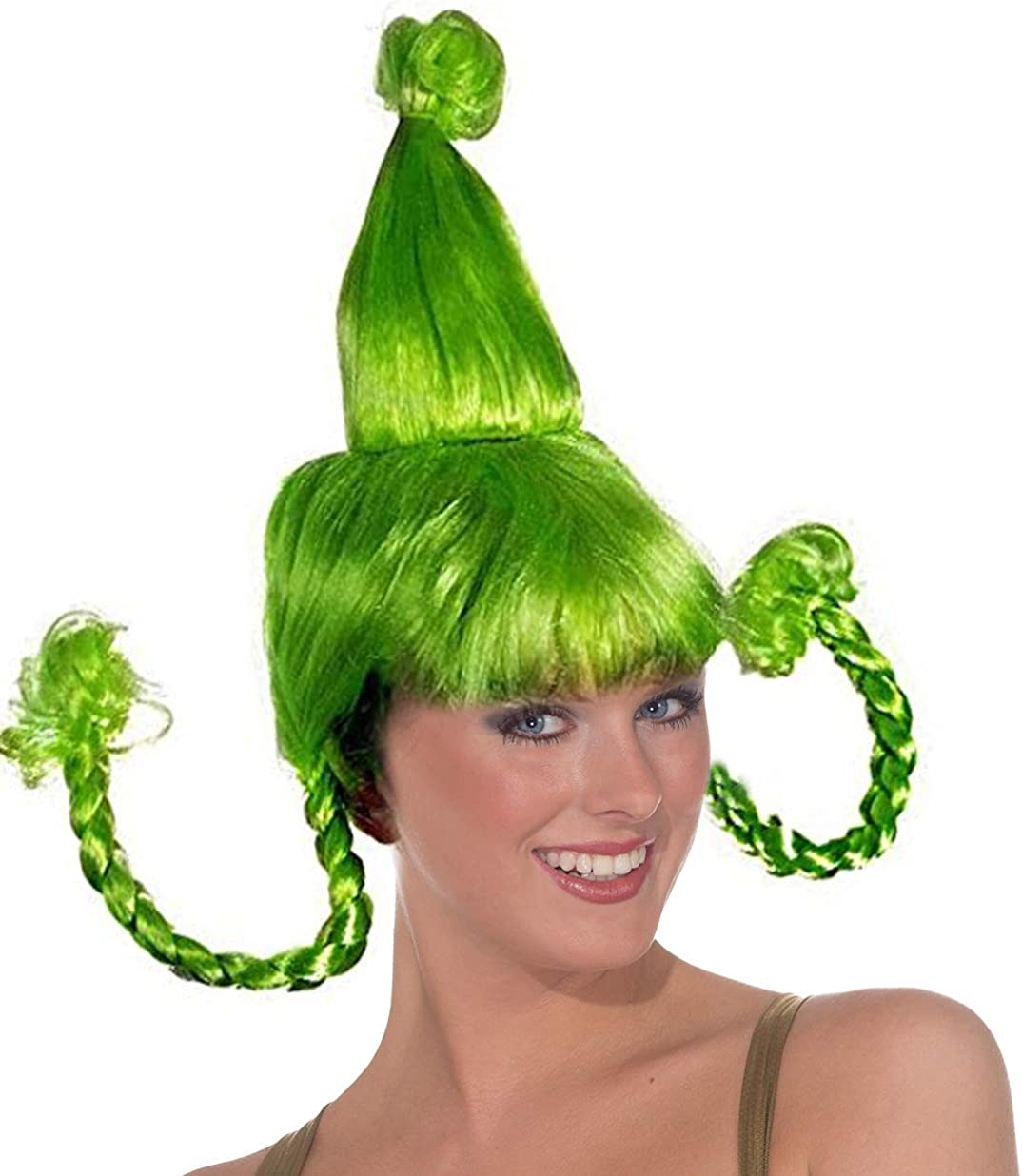 Green Cindy Costume Wig 35% OFF with Max 52% OFF Braids Wire Lou