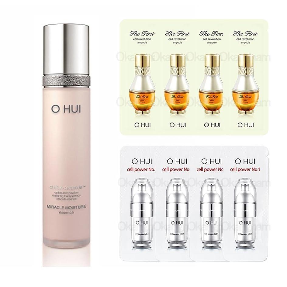 寝てる特異なナチュラル[オフィ/O HUI]韓国化粧品 LG生活健康/OHUI MIRACLE MOISTURE ESSENCE/ミラクルM エッセンス 45ml +[Sample Gift](海外直送品)