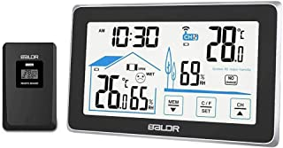 Jhua Weather Stations Wireless Indoor Outdoor ThermometerWireless WeatherStation Digital Hygrometer Temperature Humidity...