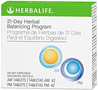 Herbal Balancing Program of 21-Days 42 Tablets for AM/42 Tablets for PM Dietary Supplement