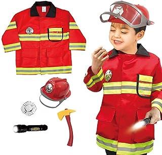 Neuf pour Garçons Sam le Pompier Costume Déguisement Tenue des Enfants Fête Noël