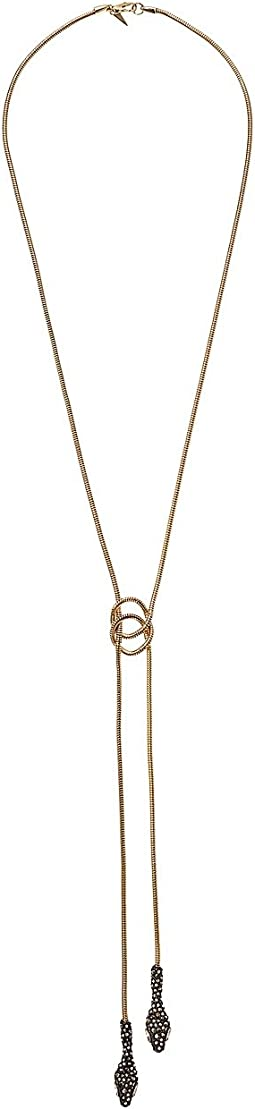Alexis Bittar - Snake Chain Knotted Bolo Necklace