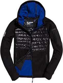 Superdry Mens Mountain Soft Shell Hybrid Jacket Black