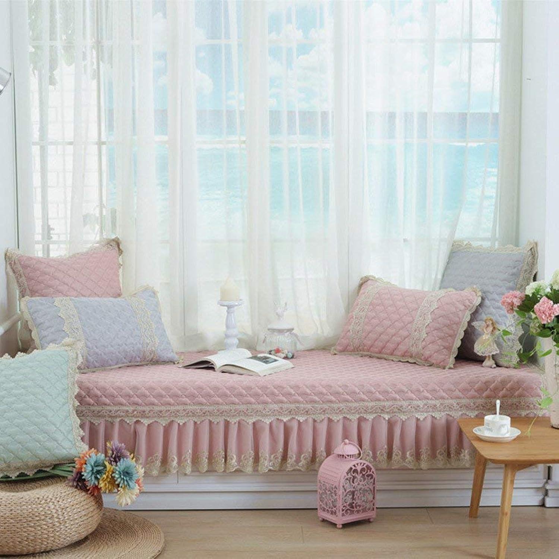 Der Thicken Bay Window Cushion,Window sill mat,Nonlip Balcony pad,Sofa Cushioning Bay Window Carpet Floor Bay Window Carpet Floor (color   B, Size   90x210cm(35x83inch))