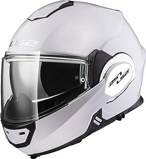 LS2 Casco de moto VALIANT Blanco, Blanco, M