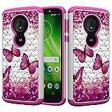 Haiqing Coque de protection hybride 2 en 1 double couche résistante aux chocs pour Motorola Moto G6...