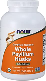 NOW Supplements, Organic Whole Psyllium Husks, 12-Ounce