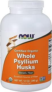 NOW Supplements, Organic Whole Psyllium Husks, 12-Ounce