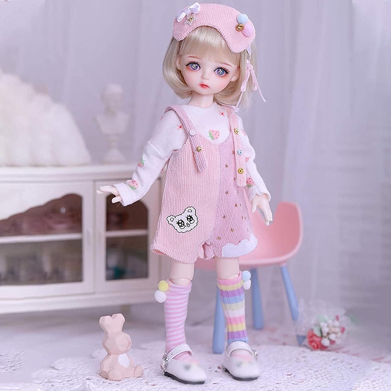 Fashion 6 BJD Doll 3D Big Eyes Realistic Eyelash Girl