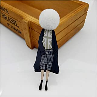 Women Cute Lovely Acrylic Anime Brooch Pins for Woman Diy Girl Models Brooches Lapel Pins Jewelry Accessories