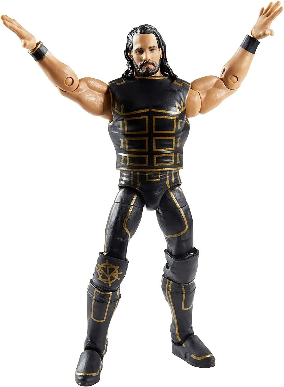 WWE Seth Rollins Fan TakeOver 6-in/15.24-cm Elite Action Figure with...