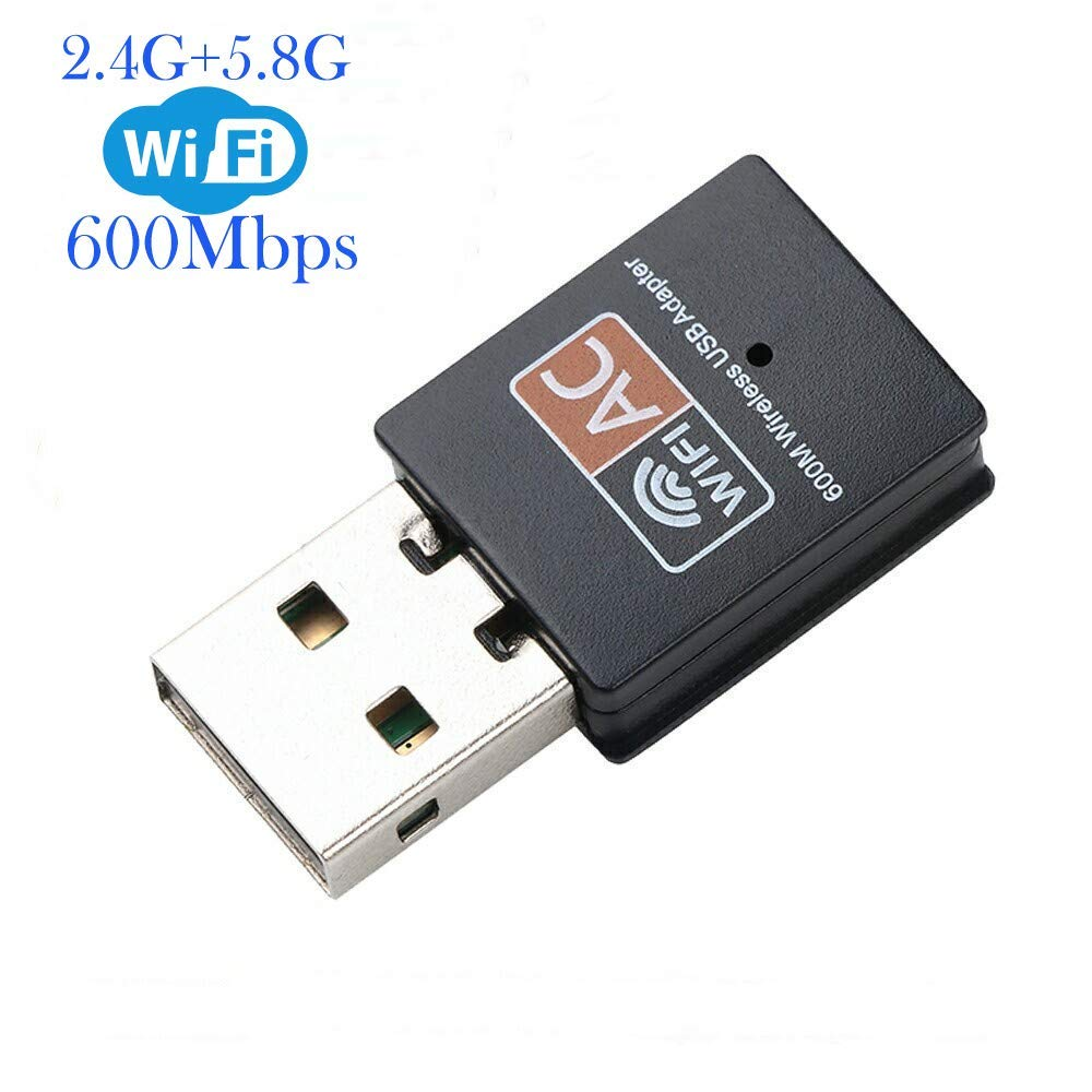 ElecMoga Wifi Dongle, USB Wifi Adapter 600Mbps 2.4/5GHz Mini Wireless  Network Adapter Supports Windows 10/8 / 7/ Vista/XP/ 2000/ Mac Os X  10.4-10.14(Updated): Amazon.co.uk: Computers & Accessories