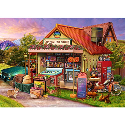 Jigsaw Puzzle 1000 Piece for Adults convenience Store Fun Family Puzzles for Adults Teens Kids 1000...