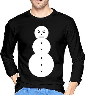 Younter Jeezy Snowman Men's Comfort Long Sleeve Tee Black