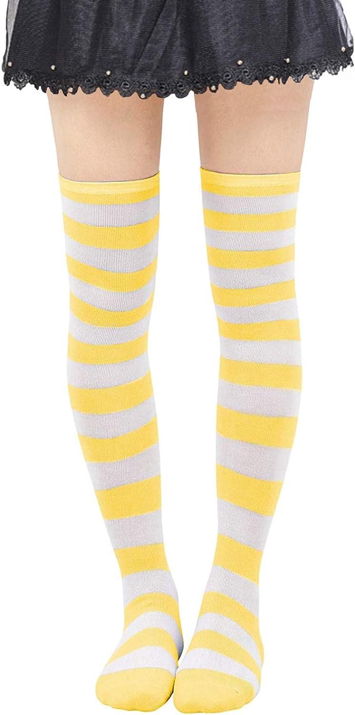 Wowlife Girls Colorful Stocking Over Knee Thigh Long Sock Pantyhose Leg Stocking