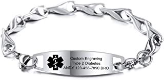 custom made medical id bracelets