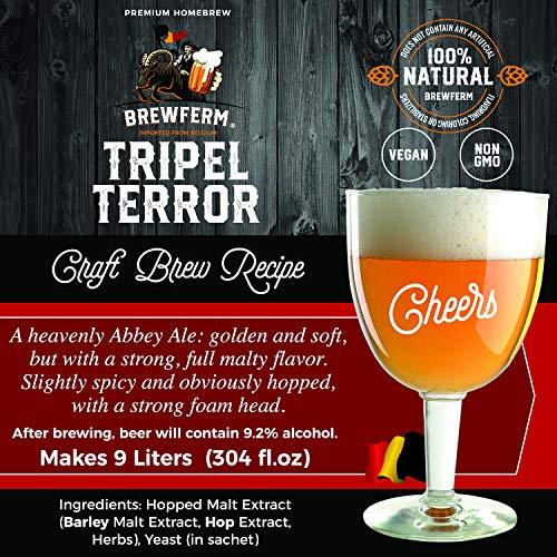 Product Image 2: Brewferm Tripel Terror (Belgian Tripel) Belgian Homebrew Craft Beer Mix – makes 9 liters or 2.5 gallons of beer
