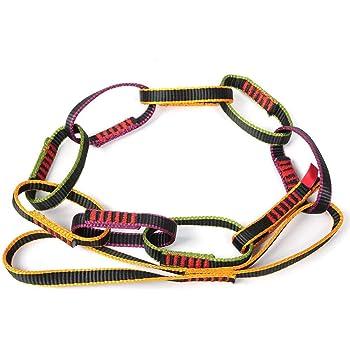 Alomejor Gänseblümchen Seil Bergsteigen Arbeitsseil Abwärts Ring Sling Daisy Chain Yoga Rope Bildet