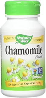 Nature's Way Chamomile Flowers, Capsules, 100 Count (Pack of 2)