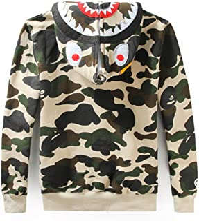 Scarlett Mens Hoodies Ape Bape Sweatshirt Fashion Outdoor Tracksuit Casual Hip-Hop Funny Coat