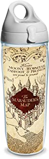 Tervis 1219245 Warner Brothers Harry Potter Maurauders Map Wrap Clear Inner 24oz Water Bottle with Grey WB Lid, Tritan