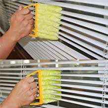 VHLL Useful Microfiber Window Cleaning Brush air Conditioner Duster Cleaner with Washable Venetian Blind Blade Cleaning Cloth New