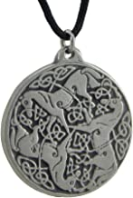 Starlinks Solid Pewter Celtic Horses Endless Knot Talisman Pendant W/Cord Necklace