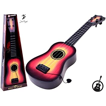 Jack Royal King of Music 4-String Acoustic Learning Kids Guitar Toy (Assorted Color) (Walnut)