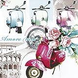 20 Servietten Vespa di Roma – Vespa in Rom/Italien/Motorrad/Moped 33x33cm