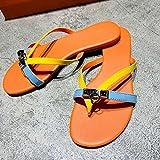 WENHUA Zapatos de Playa y Piscina Hombre Mujer, Niño Niña Playa Zapatillas Sandalias, Chanclas Casual de Verano para Mujer, Yellow_36