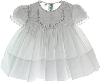 Feltman Brothers Newborn Girls White Smocked Take Home Dress