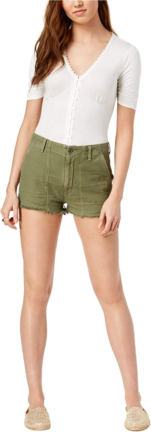 Citizens of Humanity Womens Meghan Frayed Casual Cargo Shorts