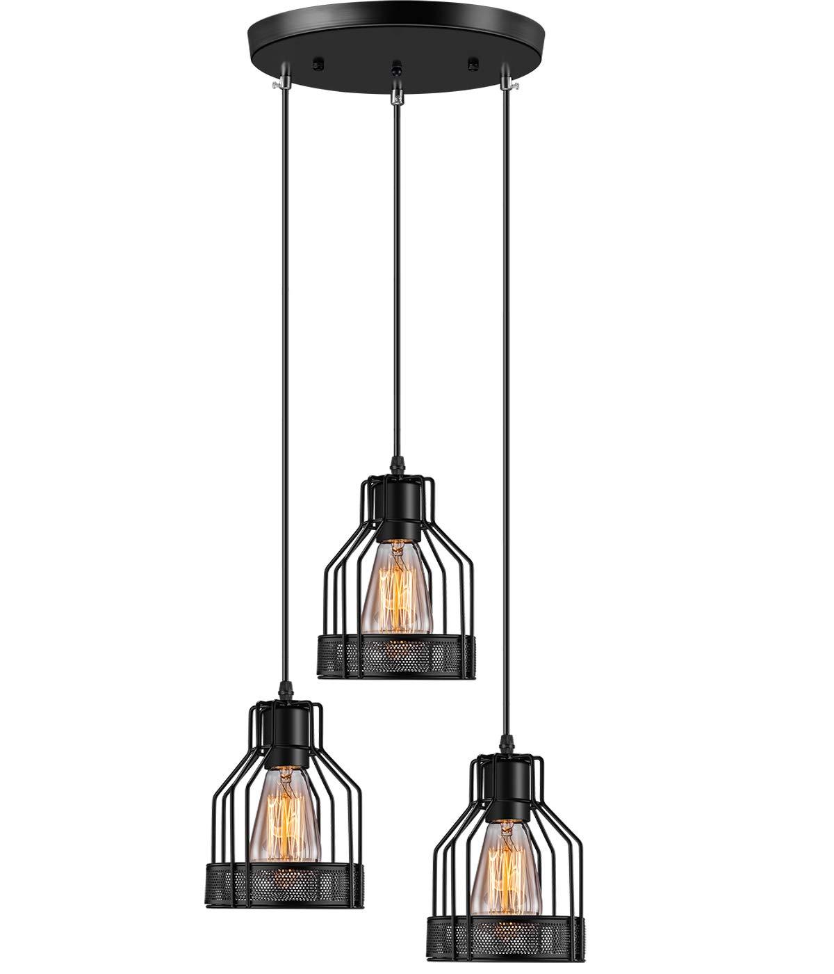 Industrial Pendant Lighting Licperron 3 Lights