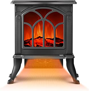 Electric Fireplace Heater - Infrared Space Heater with 3D Flame Effect, 2 Heat Modes, 1500W Ultra Strong Power, Adjustable...