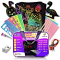 [THE COMPLETE] Scratch Paper Art Set For Kids, 100 Piece Magic Rainbow & Sparkling Colors Crafts Sheets, DIY Painting ,Christmas, Birthday, Easter Gift For Girls & Boys, With Carry Bag and More!