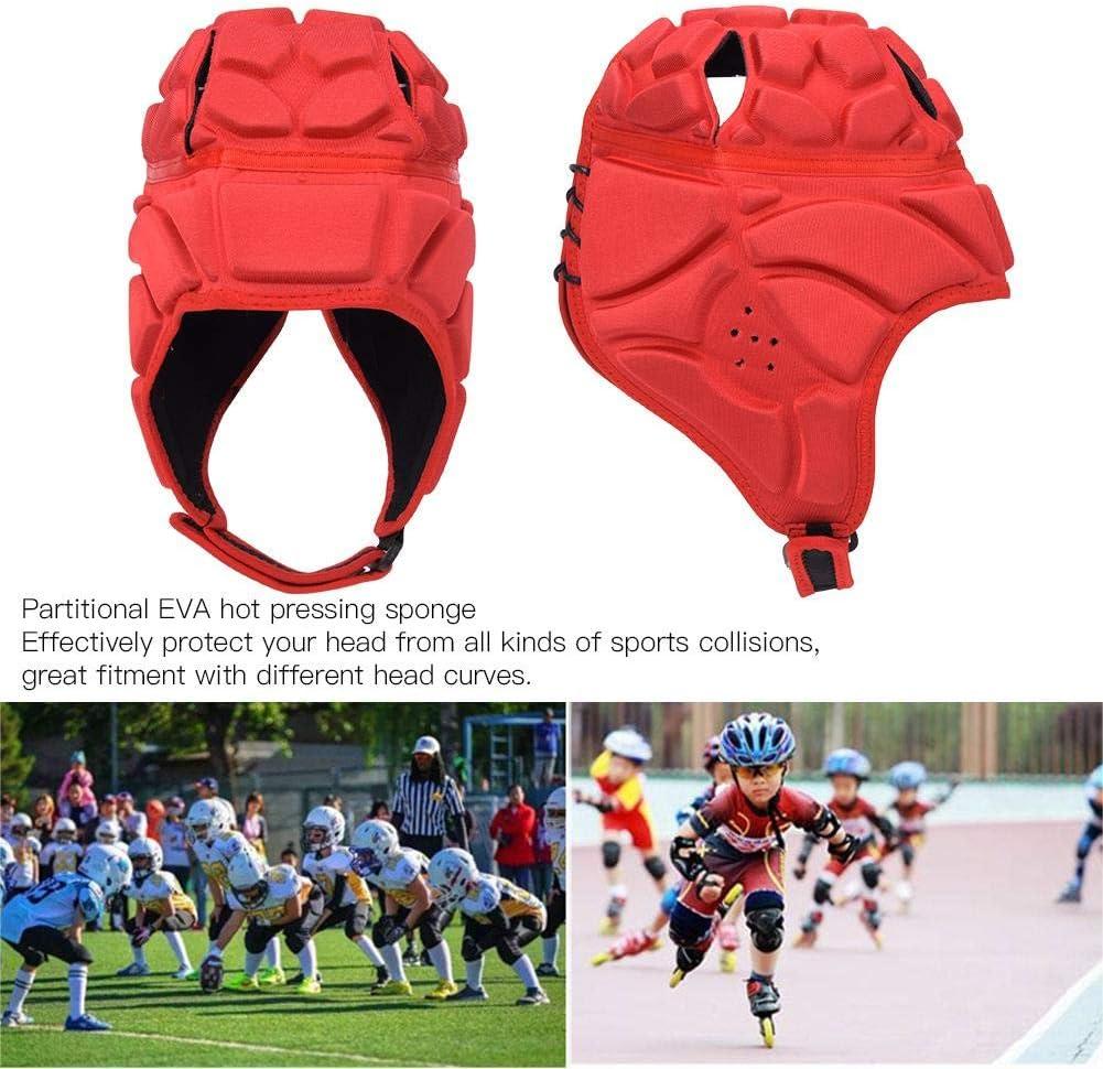 Sombrero de Portero Azul-L Longzhou Casco de Portero Protector de Cabeza Casco de Rugby Casco de f/útbol Profesional de b/éisbol