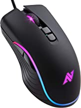 ABKONCORE AM6 Gaming Mouse with 4Dpi Levels (800, 1600, 2400, 3200), Programmable Buttons, Wired Ergonomic USB Computer Mouse for Gamer, Laptop, Chromebook, Mac (AM6)