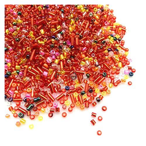 HAIXUE Cuentas de Semillas de Vidrio de Color Mezclado de 2-3 mm creación de Joyas del Collar de Pulsera de Bricolaje (15 g Aproximadamente 800pcs)