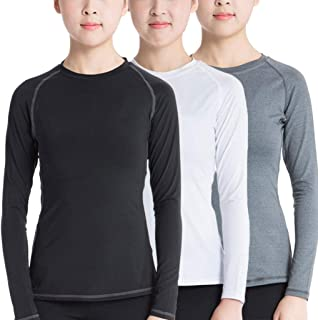 Sanke Women Thermal Wintergear Compression Baselayer Long Shirts with Thumb Hole